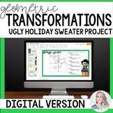 Geometric Transformations Christmas Math Project - Digital