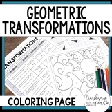 Geometric Transformations Coloring Page : 8.G.1, 8.G.2, 8.G.3