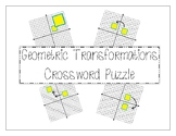 Geometric Transformations Crossword Puzzle