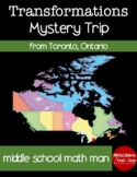 Geometric Transformations Mystery Canada Trip Activity fro