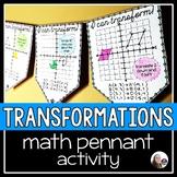 Geometric Transformations Math Pennant Activity - 4 quadrants