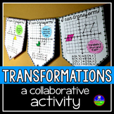 Transformations Math Pennant (4 QUADRANTS) Translate, Rotate, Reflect, Dilate