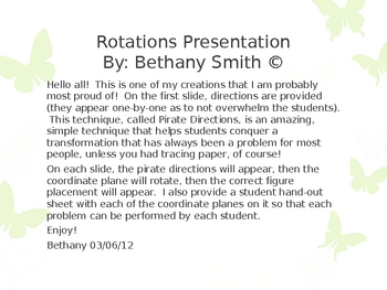 Geometric Transformations: Rotations Presentation