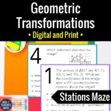 Geometric Transformations Activity   Digital and Print