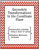 Geometric Transformations- Translations Activity Using a Deck of Cards