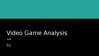 Geometric Transformations: Video Game Analysis Activity