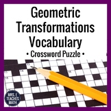 Geometric Transformations Vocabulary Crossword Puzzle
