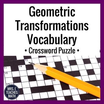 Geometric Transformations Vocabulary Crossword Puzzle