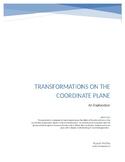 Isometries on the Coordinate Plane Exploration