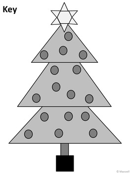Geometric Tree for Christmas 2D Shapes