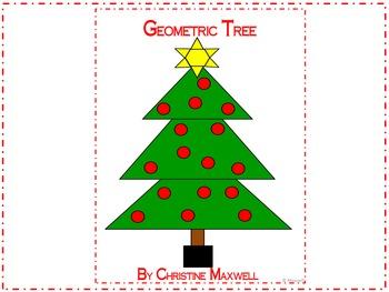 Geometric Tree for Christmas 2D Shapes