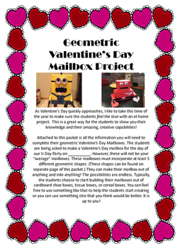 Geometric Valentine's Day Mailbox Project