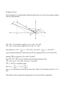 Geometric Vectors Vs. Algebraic Vectors