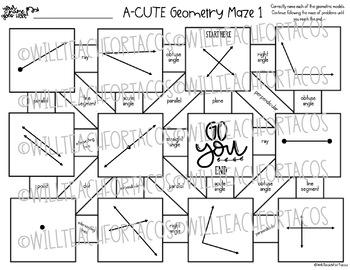 Geometric Vocabulary Maze 4.6A 4.6C
