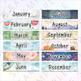 Geometric Watercolor Calendar - Can be used with Pocket Insert Calendars