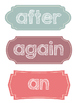 Geometric Word Cards