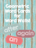 Geometric Word Cards