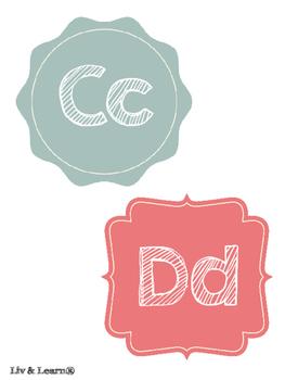 Geometric Word Wall Letters