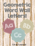 Geometric Word Wall Letters