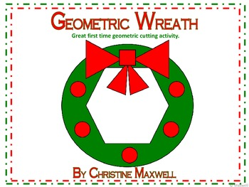 Geometric Wreath for Christmas 2D Shapes
