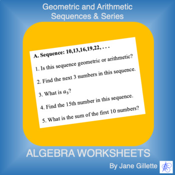 Geometric and Arithmetic Sequences and Series