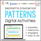 Geometric and Numerical Patterns Digital Activities - Distance Learning