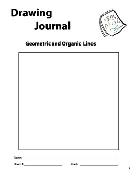 """""""Geometric and Organic Lines"""" Drawing Journal"""