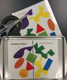 Geometric and Organic Shape Art Assessment Game