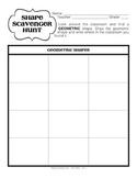 Geometric and Organic Shape Scavenger Hunt (Elementary Art Game)