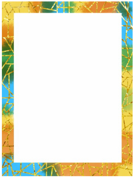 Geometric line gold foiled page border
