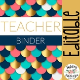 Geometric or Modern Editable Teacher Binder & Planner Pack