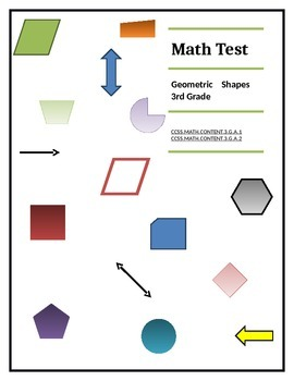 Geometric test on lines, angles, shapes