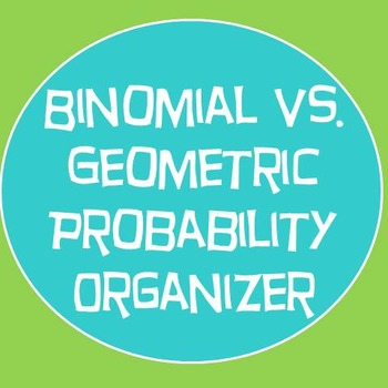 Geometric vs. Binomial Probability Organizer Foldable