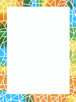 Geometric white line page border
