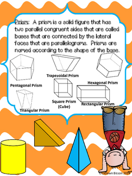 Geometric Solids:  Prisms and Pyramids