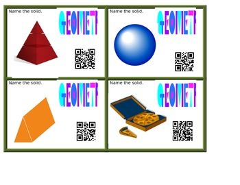 Geometrical Solids - QR Codes