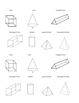 Geometrical Solids and Nets Foldable