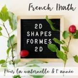 Les Figures Planes GÉOMÉTRIE (French Kinder & Primary Math