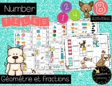Géométrie et fractions / Geometry and Fractions French Number Tiles