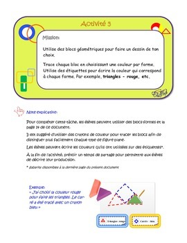 Géométrie et sens de l'espace: figures planes, 1re année, activités