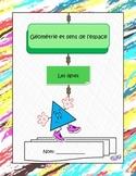 Géométrie et sens de l'espace: les lignes, 1re année, activités