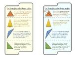 Géométrie - les triangles selon leurs côtés et leurs angles
