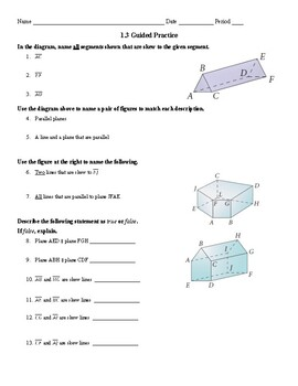 Geometry 1.3 Guided Notes: Segments and Rays