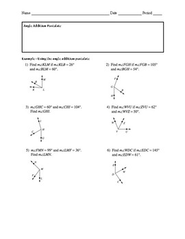 Geometry 1.4B Guided Notes: Measuring Angles