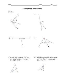 Geometry 1.5 Guided Notes: Bisectors