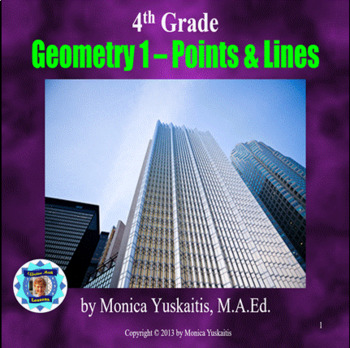 Common Core 4th - Geometry 1 - Point, Lines, Rays, Parallel, Perpendicular Lines