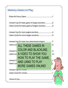 Geometry Memory Games