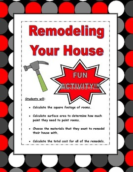 Geometry Activity using Area and Surface Area (Remodeling Your House)