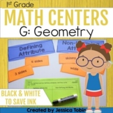 Geometry- 1st Grade Math Centers