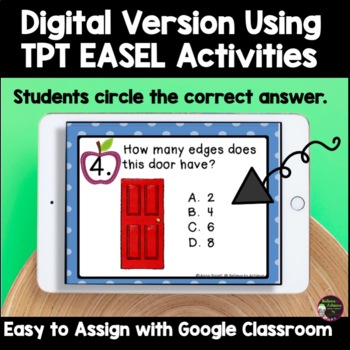 Geometry- 2 D shapes Real Life Task Cards